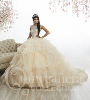 Ruffled Cap Sleeve Quinceanera Dress by House of Wu 26886-Quinceanera Dresses-ABC Fashion