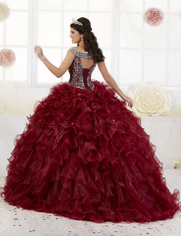 Ruffled Cap Sleeve Quinceanera Dress by House of Wu 26897-Quinceanera Dresses-ABC Fashion