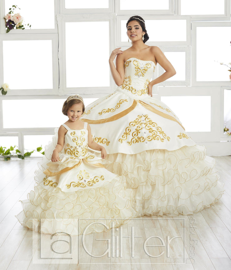 Ruffled Charro Dress by House of Wu LA Glitter 24018-Quinceanera Dresses-ABC Fashion