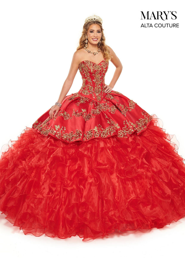 Ruffled Charro Dress Quinceanera Dress by Alta Couture MQ3058