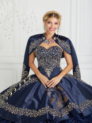 Ruffled Charro Quinceanera Dress by LA Glitter 24076