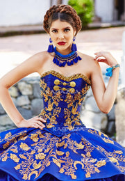Ruffled Charro Quinceanera Dress by Ragazza Fashion M12-112-Quinceanera Dresses-ABC Fashion