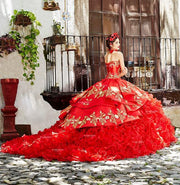 Ruffled Charro Quinceanera Dress by Ragazza Fashion M13-113-Quinceanera Dresses-ABC Fashion