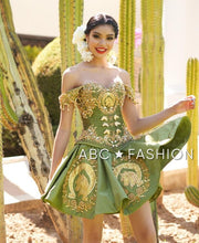 Ruffled Charro Quince Dress by Ragazza M22-122