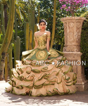 Ruffled Charro Quinceanera Dress by Ragazza Fashion M22-122