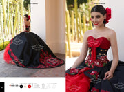Ruffled Charro Quince Dress by Ragazza Fashion M25-125