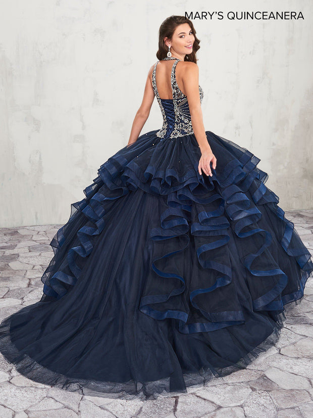 Ruffled Halter Quinceanera Dress by Mary's Bridal M4Q2011-Quinceanera Dresses-ABC Fashion