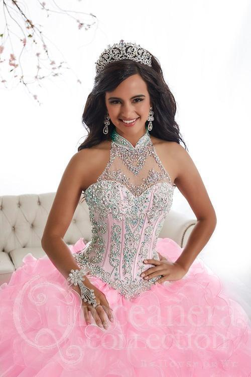 Ruffled Illusion Quinceanera Dress by House of Wu 26871