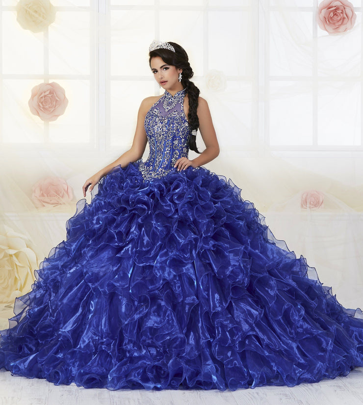 Ruffled Illusion Quinceanera Dress by House of Wu 26871-Quinceanera Dresses-ABC Fashion