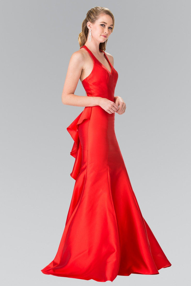 Ruffled Mermaid Gown with Open Back by Elizabeth K GL2224-Long Formal Dresses-ABC Fashion