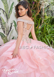 Ruffled Off Shoulder Quinceanera Dress by Forever Quince FQ810-Quinceanera Dresses-ABC Fashion