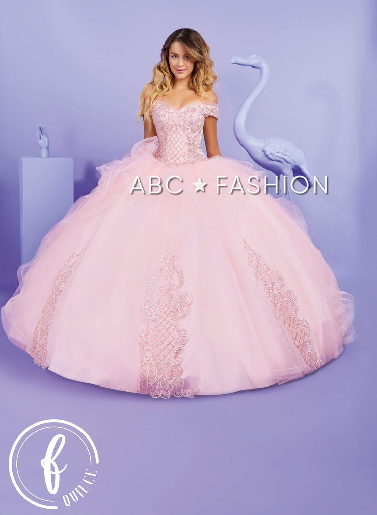 Ruffled Off Shoulder Quinceanera Dress by Forever Quince FQ821