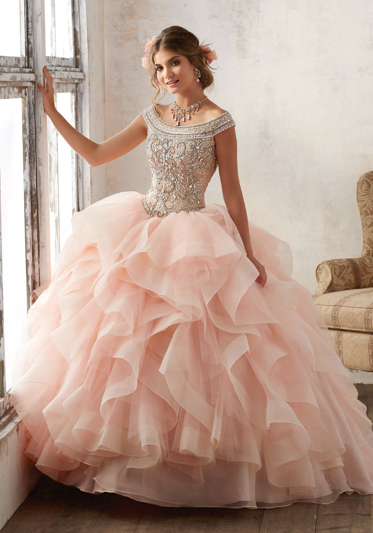 Ruffled Off Shoulder Quinceanera Dress by Mori Lee Vizcaya 89138-Quinceanera Dresses-ABC Fashion