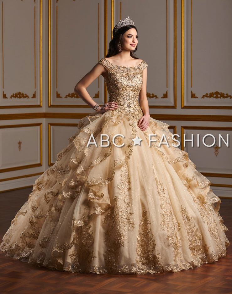 Ruffled Off the Shoulder Quinceanera Dress by House of Wu 26929-Quinceanera Dresses-ABC Fashion