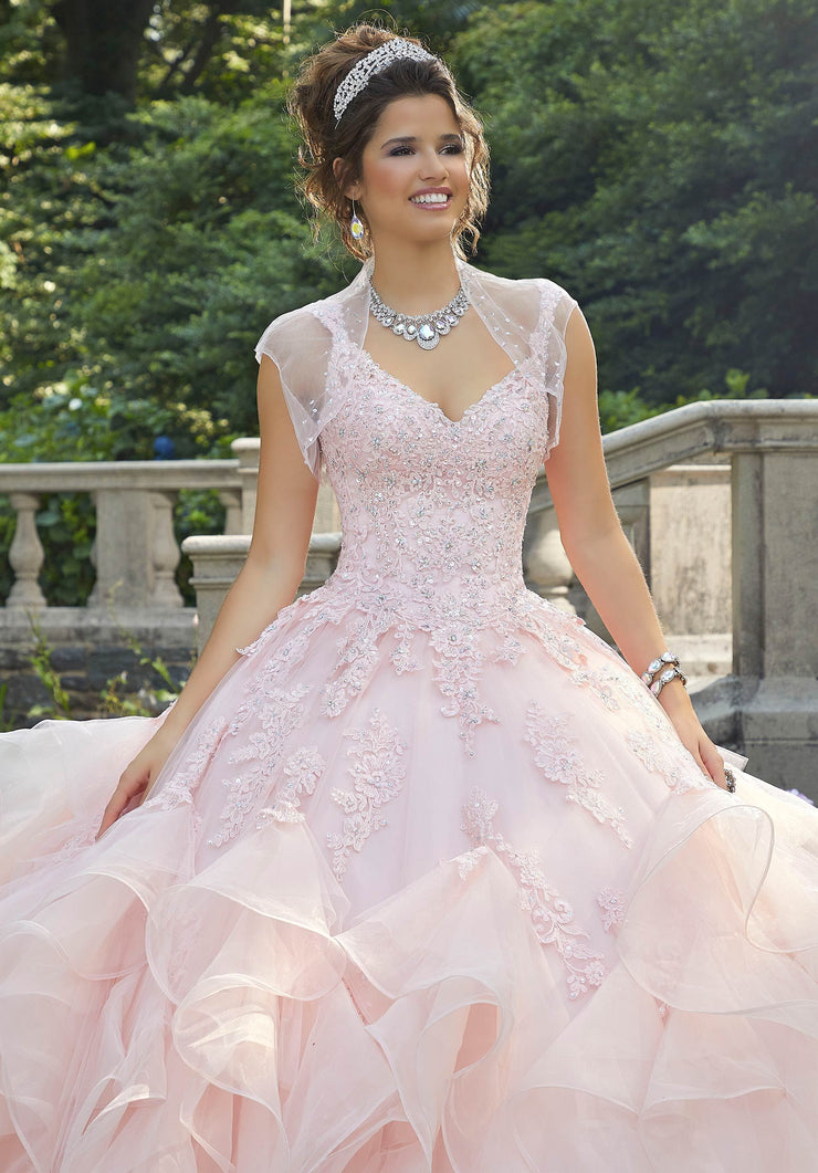 Ruffled Quinceanera Dress by Mori Lee Vizcaya 89262-Quinceanera Dresses-ABC Fashion