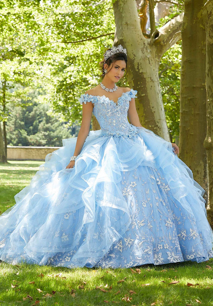 Ruffled Quinceanera Dress by Mori Lee Vizcaya 89303
