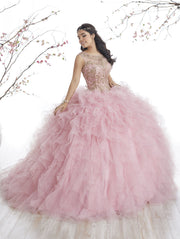 Ruffled Sleeveless Quinceanera Dress by House of Wu 26835