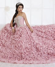 Ruffled Strapless Quinceanera Dress by House of Wu 26800