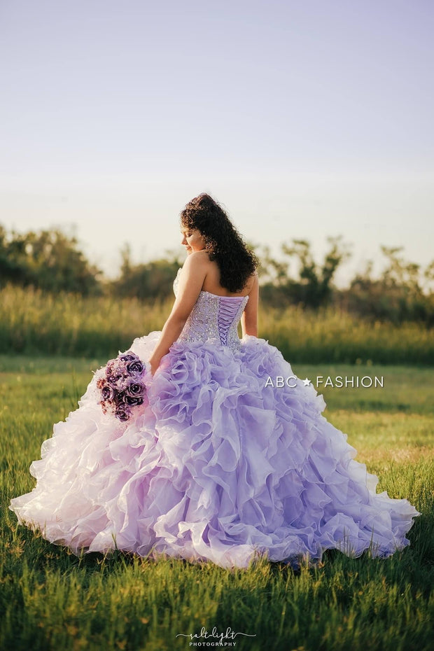 Ruffled Strapless Quinceanera Dress by House of Wu 26833