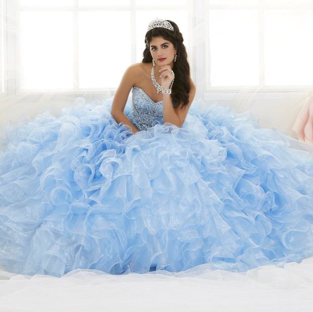 Ruffled Strapless Quinceanera Dress by House of Wu 26833-Quinceanera Dresses-ABC Fashion