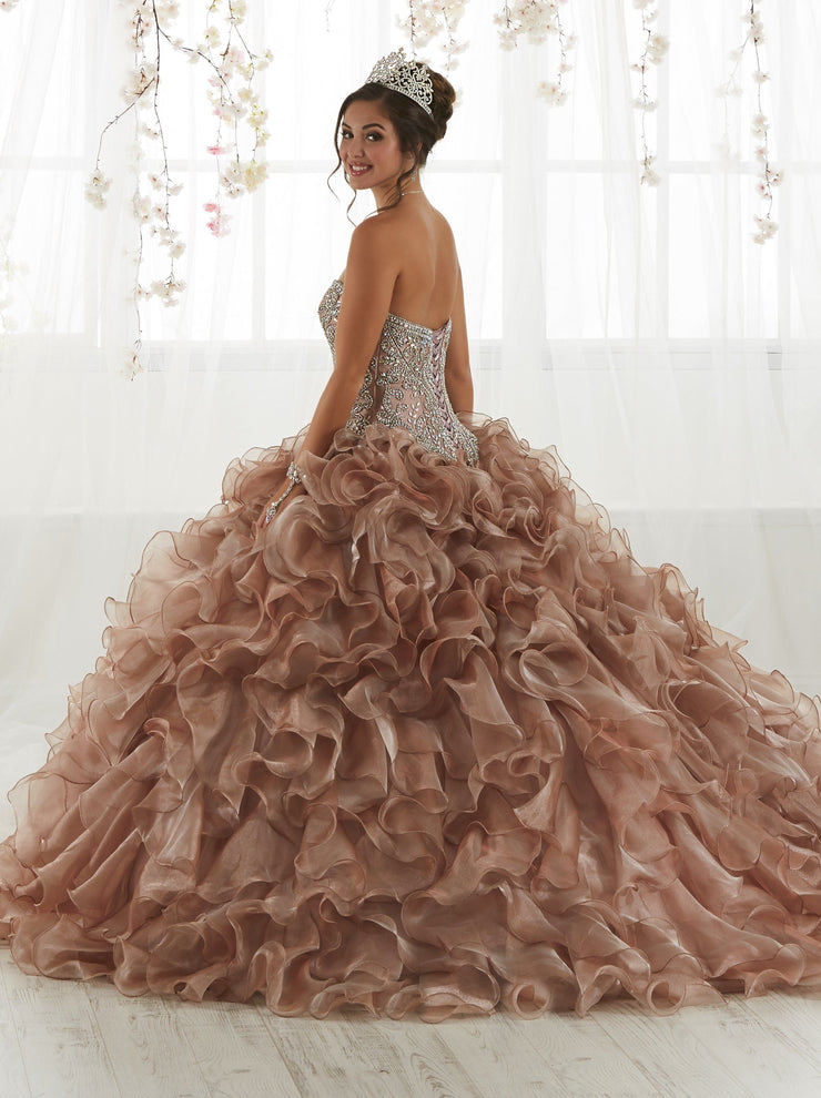 Ruffled Strapless Quinceanera Dress by House of Wu 26924-Quinceanera Dresses-ABC Fashion