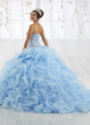 Ruffled Strapless Tulle Quinceanera Dress by House of Wu 26916-Quinceanera Dresses-ABC Fashion