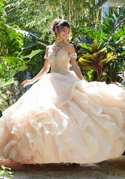 Ruffled Sweetheart Quinceanera Dress by Mori Lee Vizcaya 89247-Quinceanera Dresses-ABC Fashion