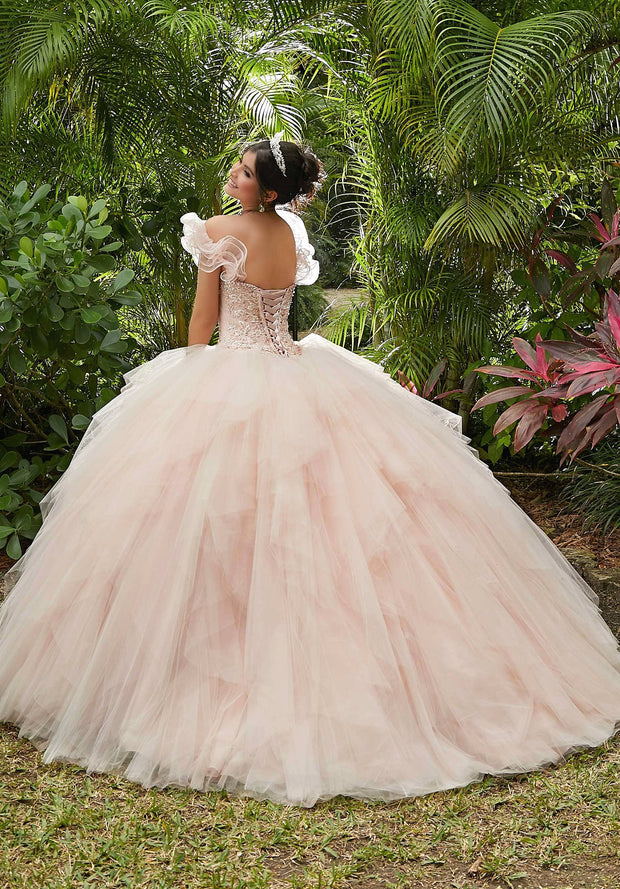 Ruffled Sweetheart Quinceanera Dress by Mori Lee Vizcaya 89283