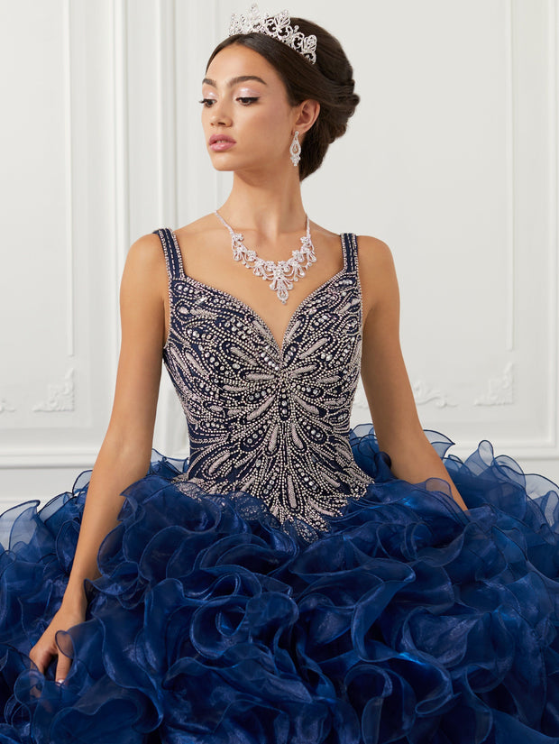 Ruffled V-Neck Quinceanera Dress by House of Wu 26946-Quinceanera Dresses-ABC Fashion