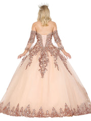 Sequin Embellished Sweetheart Ball Gown by Dancing Queen 1512