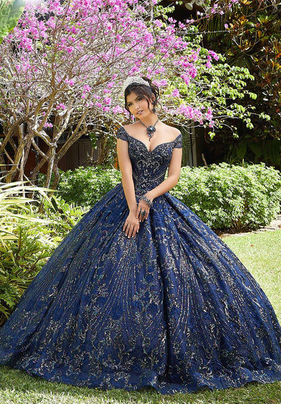 Sequin Off Shoulder Quinceanera Dress by Mori Lee Vizcaya 89291