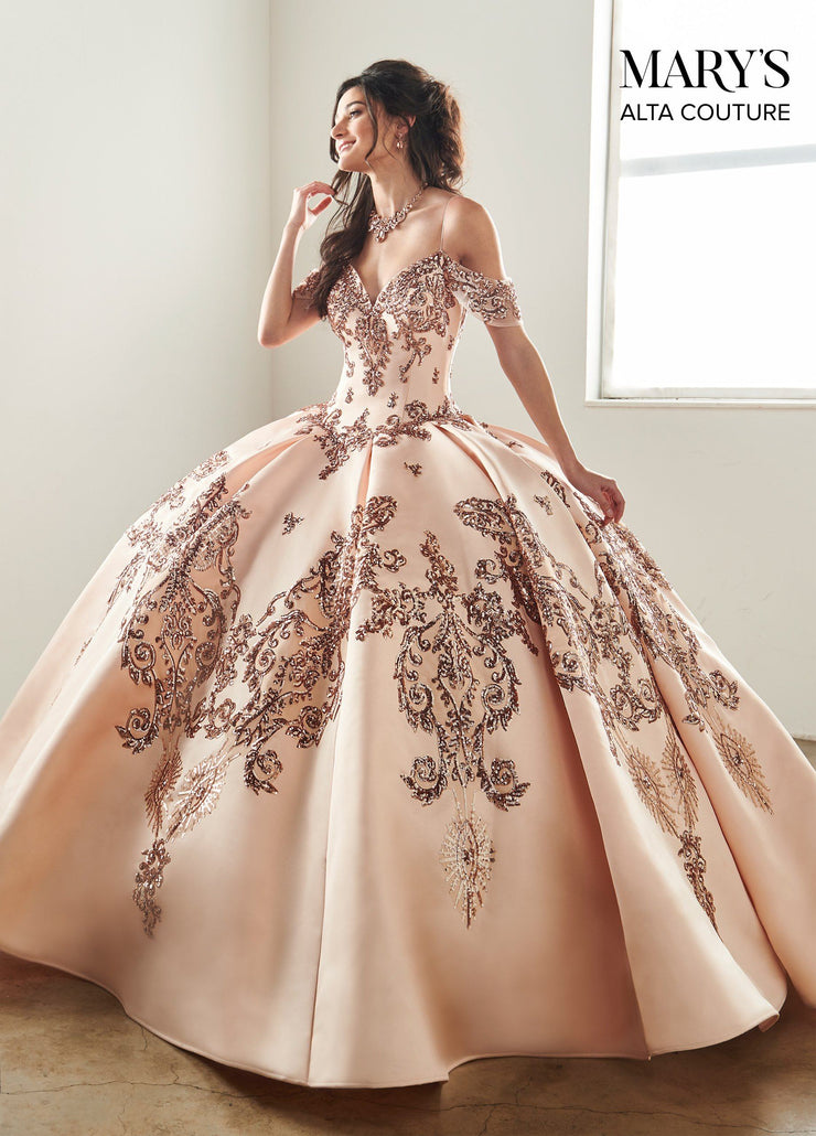 Sequin Off the Shoulder Quinceanera Dress by Alta Couture MQ3025-Quinceanera Dresses-ABC Fashion