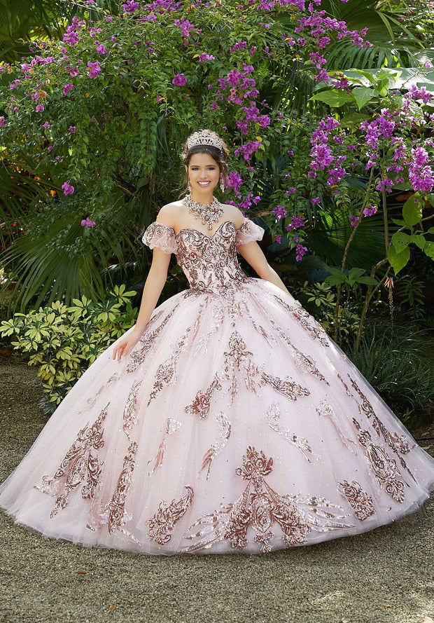 Sequin Print Quinceanera Dress by Mori Lee Vizcaya 89292