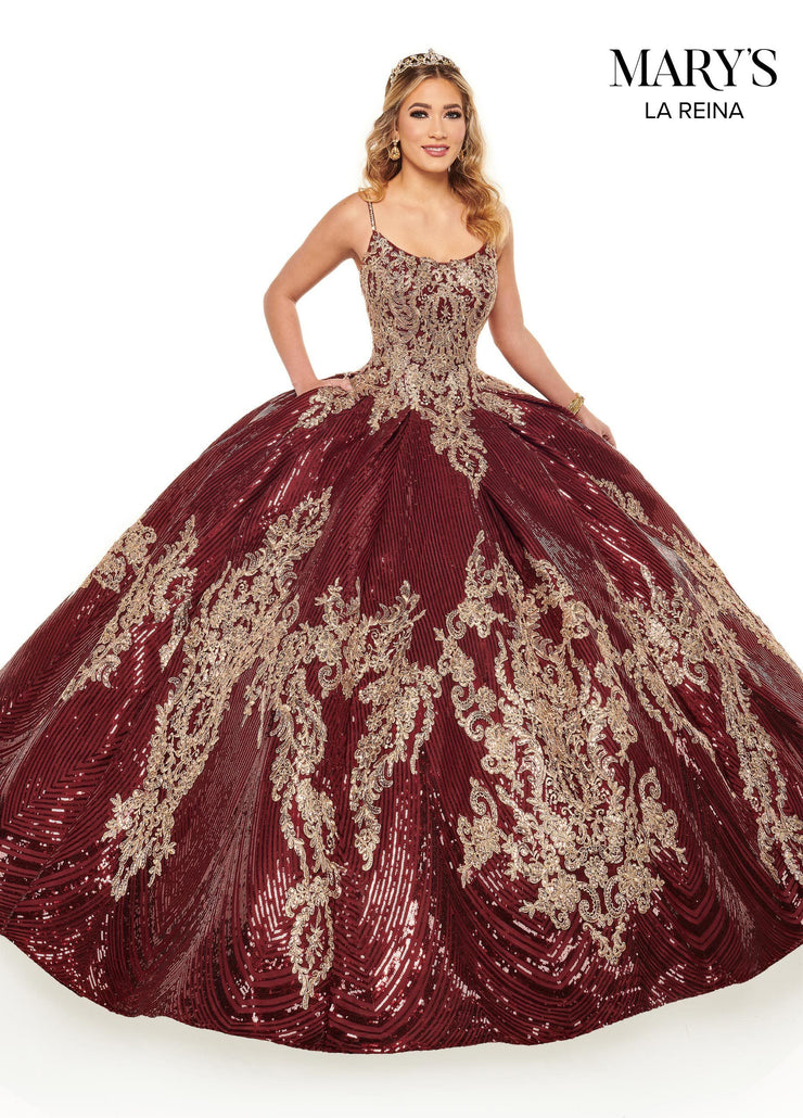 Sequin Sleeveless Quinceanera Dress by Mary's Bridal MQ2125