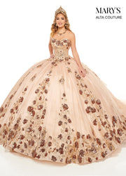Sequin Strapless Quinceanera Dress by Alta Couture MQ3052