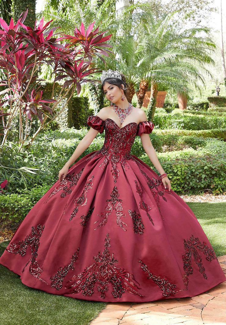 Sequin Sweetheart Quinceanera Dress by Mori Lee Valencia 60127