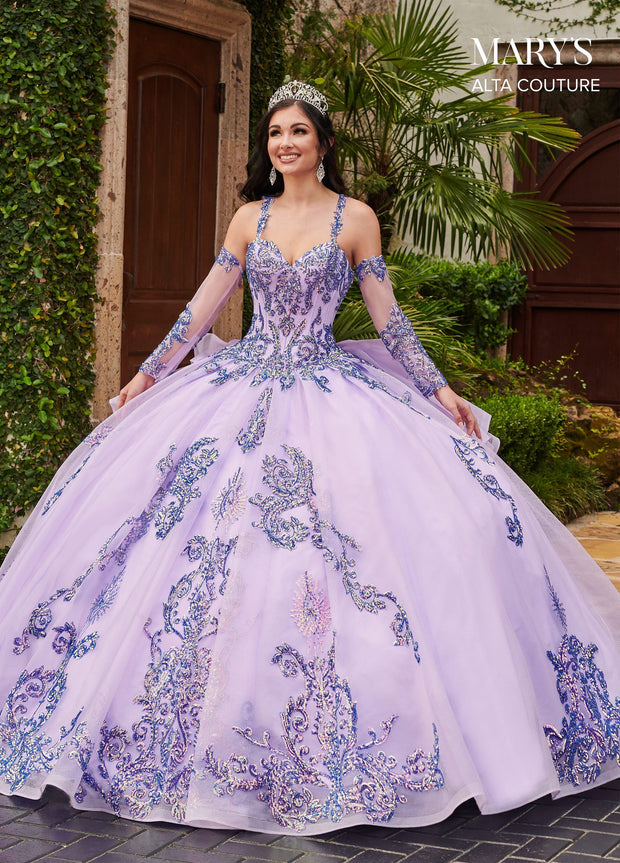 Sequin Tulle Quinceanera Dress by Alta Couture MQ3056