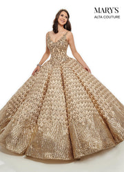 Sequin V-Neck Quinceanera Dress by Alta Couture MQ3040-Quinceanera Dresses-ABC Fashion