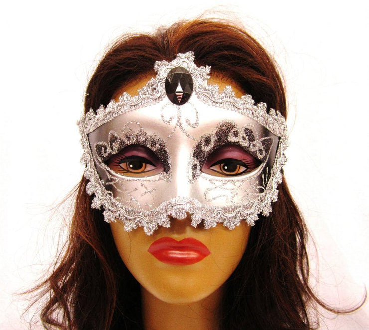 Silver Masquerade Masks-Masquerade Masks-ABC Fashion