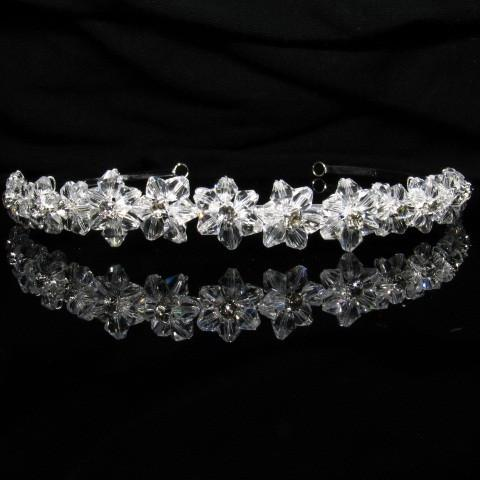 Silver Tiara with Crystals and Clear Stones - T002-Quinceanera Tiaras-ABC Fashion