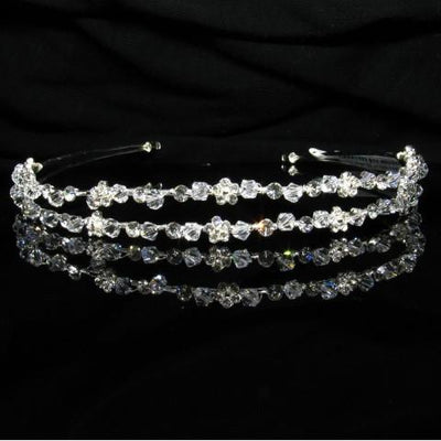 Silver Tiara with Crystals and Clear Stones - T019-Quinceanera Tiaras-ABC Fashion