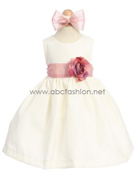 Sleeveless Baby Girl Dress with Detachable Sash-Girls Formal Dresses-ABC Fashion