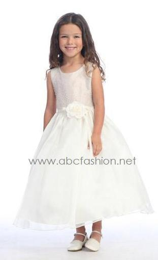 Sleeveless Flower Girl Dresses-Girls Formal Dresses-ABC Fashion