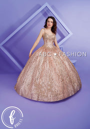 Sleeveless Glitter Quinceanera Dress by Forever Quince FQ815