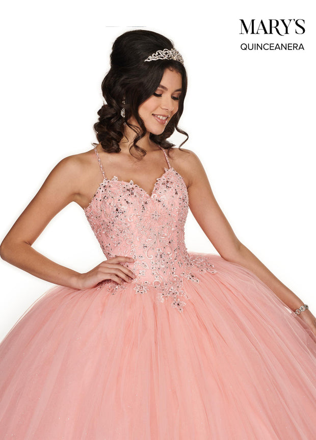 Sleeveless Glitter Quinceanera Dress by Mary's Bridal MQ1052-Quinceanera Dresses-ABC Fashion