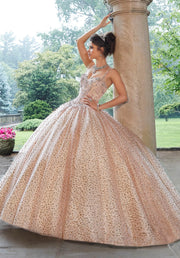 Sleeveless Glitter Quinceanera Dress by Mori Lee Valencia 60108-Quinceanera Dresses-ABC Fashion
