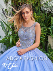 Sleeveless Illusion Quinceanera Dress by Forever Quince FQ809-Quinceanera Dresses-ABC Fashion