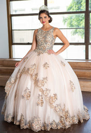 Sleeveless Lace Applique Quinceanera Dress by Calla KY75258X-Quinceanera Dresses-ABC Fashion