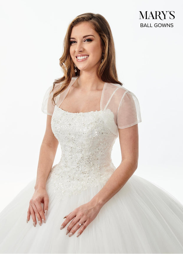 Sleeveless Lace Applique Wedding Dress by Mary's Bridal MB6068-Wedding Dresses-ABC Fashion