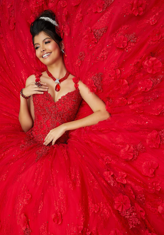 Sleeveless Lace Quinceanera Dress by Mori Lee Vizcaya 89250-Quinceanera Dresses-ABC Fashion